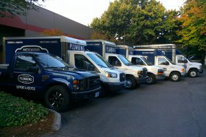 Photo of Meticulous Plumbing's fleet of vehicles
